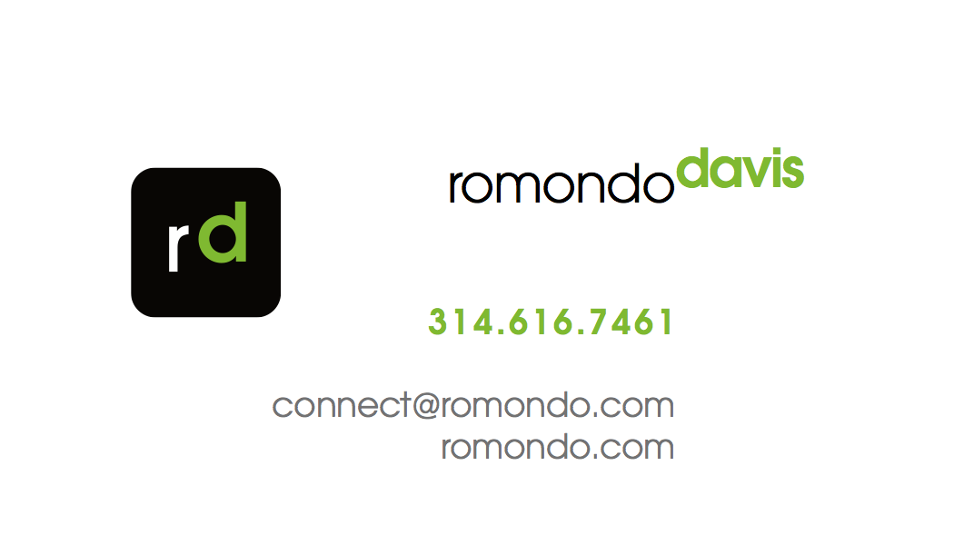 romondo digital business card front image